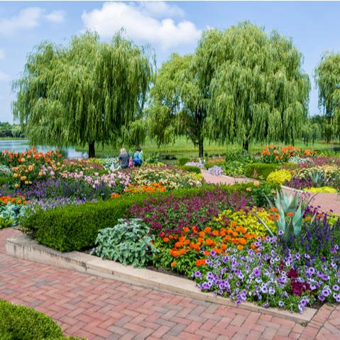 Chicago Botanical Gardens in North Shore